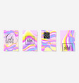 fluid color covers set with abstract background vector image