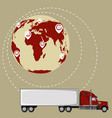 global network of commercial road cargo trucking vector image