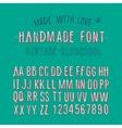 Handmade retro alphabet vector image