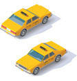 isometric taxi cab vector image