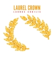 Laurel Crown Greek Wreath With Golden Leaves vector image