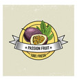 maracuya or passion fruit vintage hand drawn vector image