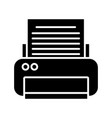 printer electronic device vector image