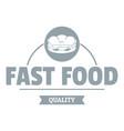 sandwich logo simple gray style vector image