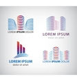 Set of line building logos icons vector image