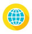 globe flat circle icon vector image