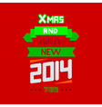 concept new year typographical background Eps10 vector image vector image