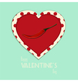 Valentine vintage spicy heart background vector image vector image