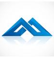 abstract construction shape logo vector image