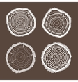 tree rings set Flat Design vector image