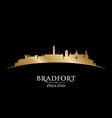 Bradfort England city skyline silhouette vector image vector image