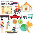 Thailand elememnts vector image
