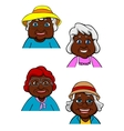 Active smiling old women cartoon characters vector image vector image