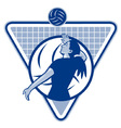 female volleyball player serving ball vector image