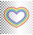 Rainbow icon heart transparent vector image