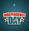 Independence day American signs vector image