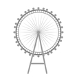 british london eye vector image