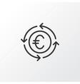 euro exchange icon symbol premium quality vector image