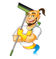Genie Cleaner Male vector image