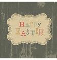 happy easter vintage background vector image