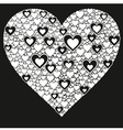Happy valentine background with decorative hearts vector image