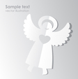 Paper angel template vector image