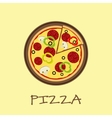 Pizza on the wooden board vector image