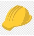 Yellow safety helmet cartoon vector image