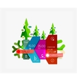 Paper Christmas Greeting Card Banners with text vector image