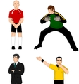 Collection of main football characters vector image