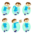 student characters vector image vector image