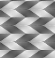 Monochrome striped light and dark chevron vector image