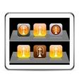 Hookah orange app icons vector image vector image
