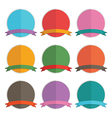 badges and ribbons vector image