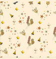 birthday background seamless vintage vector image