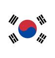 flag of south korea in national official colors vector image