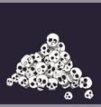 hand drawn skull pile vector image