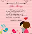 Letterhead valentines reds vector image
