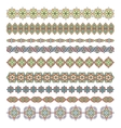 Mandala seamless pattern bordersstrips background vector image