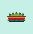 Pie icon delicious pie vector image