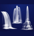 realistic waterfalls set vector image