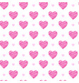 seamless pattern with pink valentines hearts on vector image