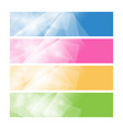 set of colorful polygonal banners vector image