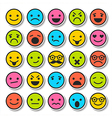 Set of emoticons characters icons vector image
