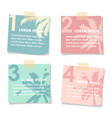 set of stick notes papers with silhouette of palm vector image