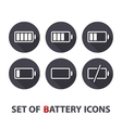 The battery icons vector image