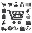 Shopping icons set eps 10 vector image vector image
