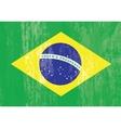 brazilian flag grunge vector image
