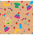 Seamless colorful baby pattern vector image