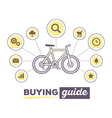creative infographic of sport bicycle with i vector image